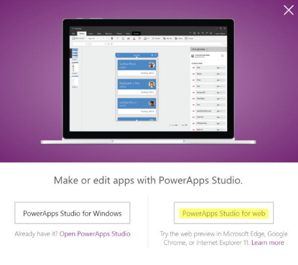 Create a PowerApp - Step 2
