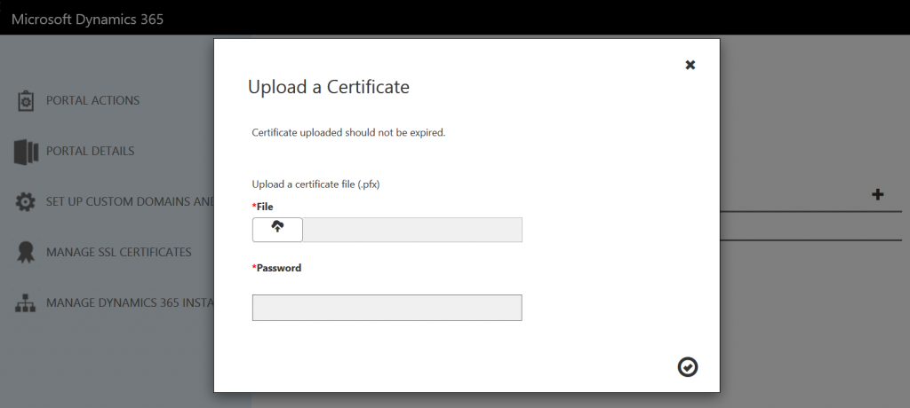 Upload SSL Certificate