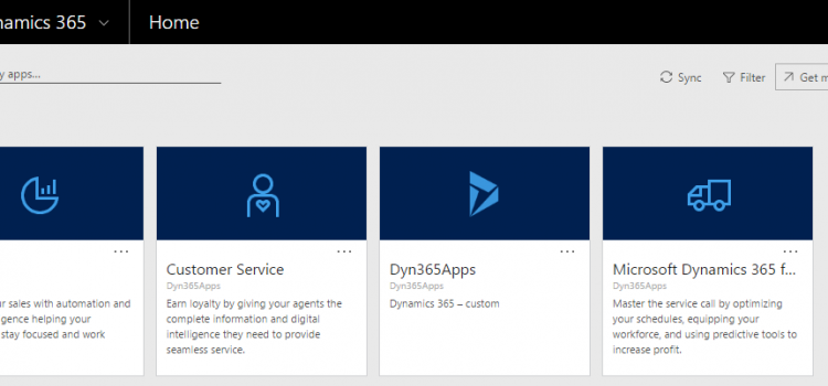 [Overview] Dynamics 365 App Model