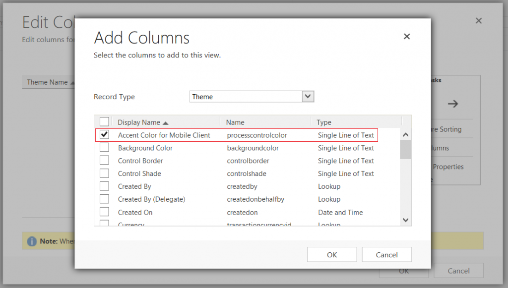 Dynamics 365 - Theme - Accent Color for Mobile Client - Advanced Find
