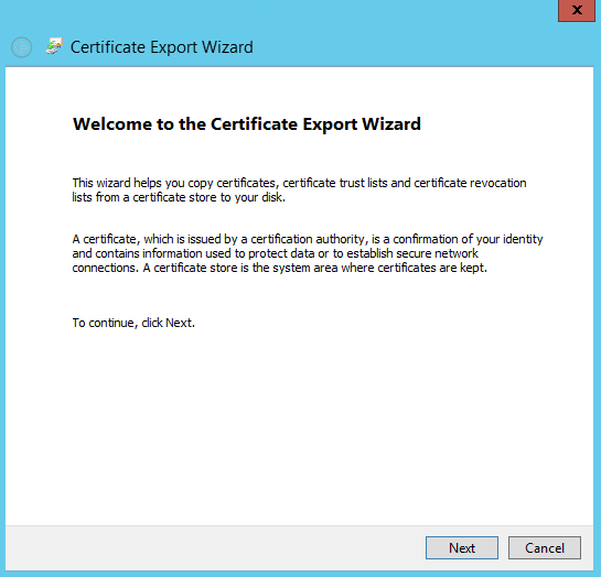 Export Wizard 1