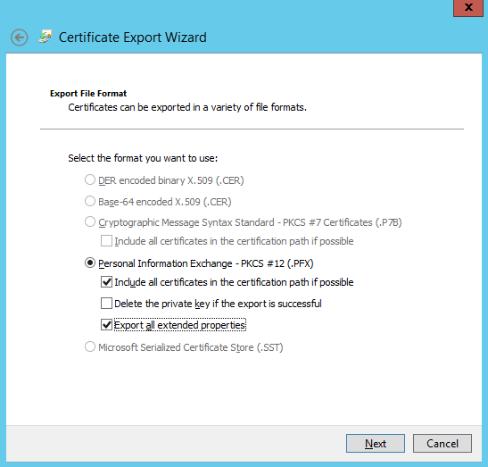 Export Wizard 3