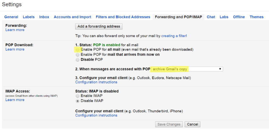 gmail-enable-pop3-and-archive-copy