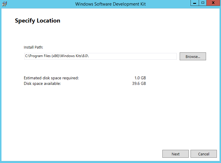 Install Windows SDK 1