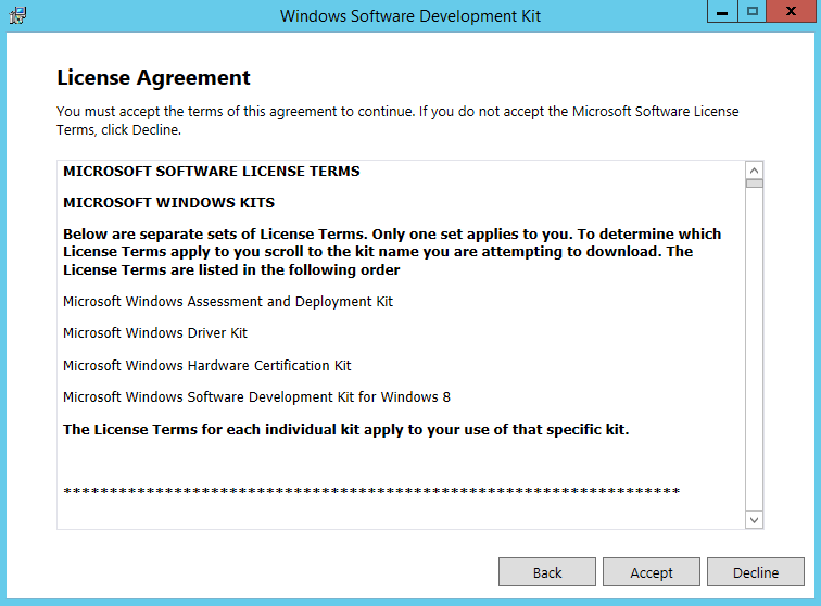 Install Windows SDK 3
