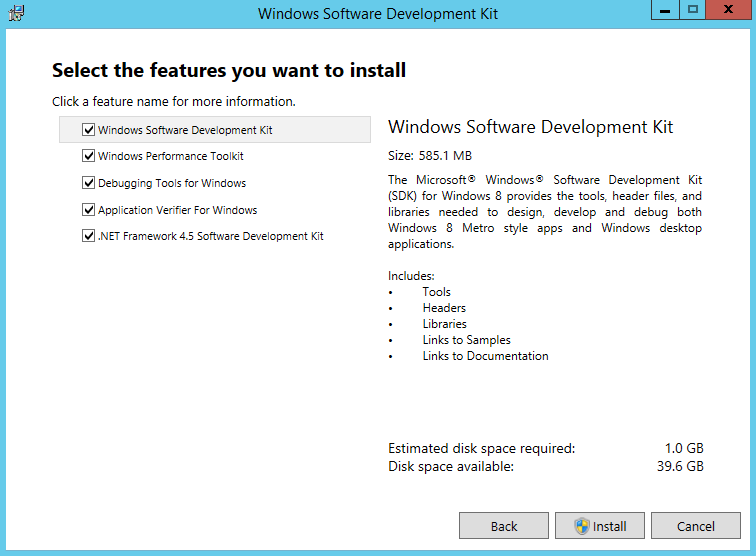 Install Windows SDK 4