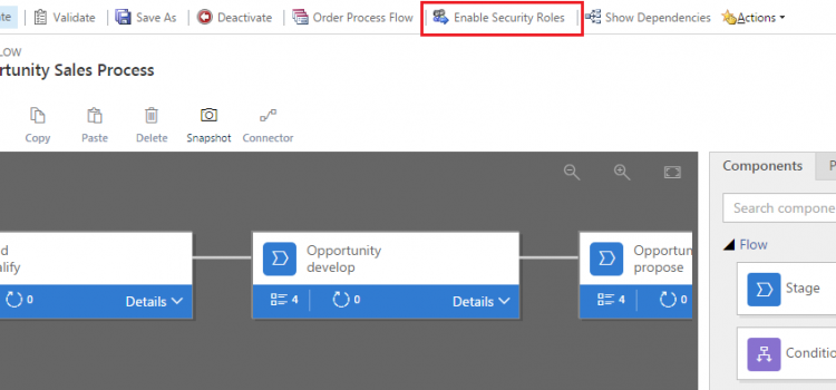 [Tip] Business Process Flow's Enable Security Roles button issue after upgrading to Dynamics 365