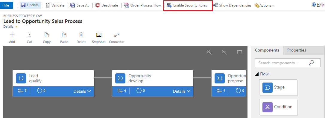 BPF Enable Security Roles