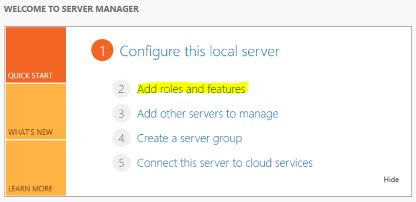 Configure Web Server Role 1
