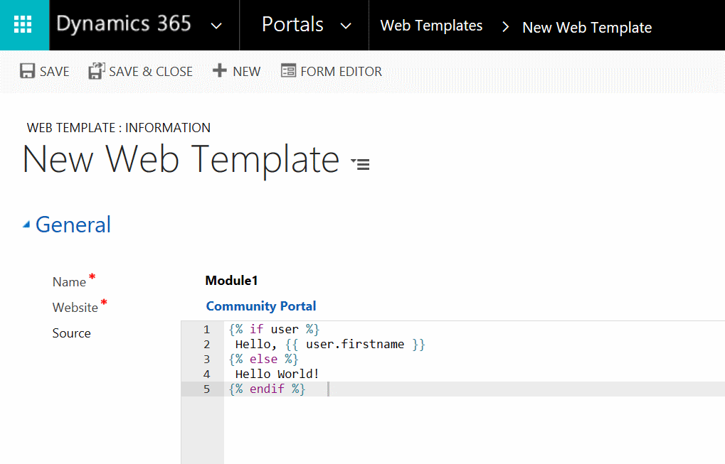 New Web Template