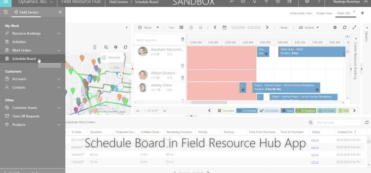 [How To] Add Schedule Board to Unified Client Interface (UCI) based Field Resource Hub App