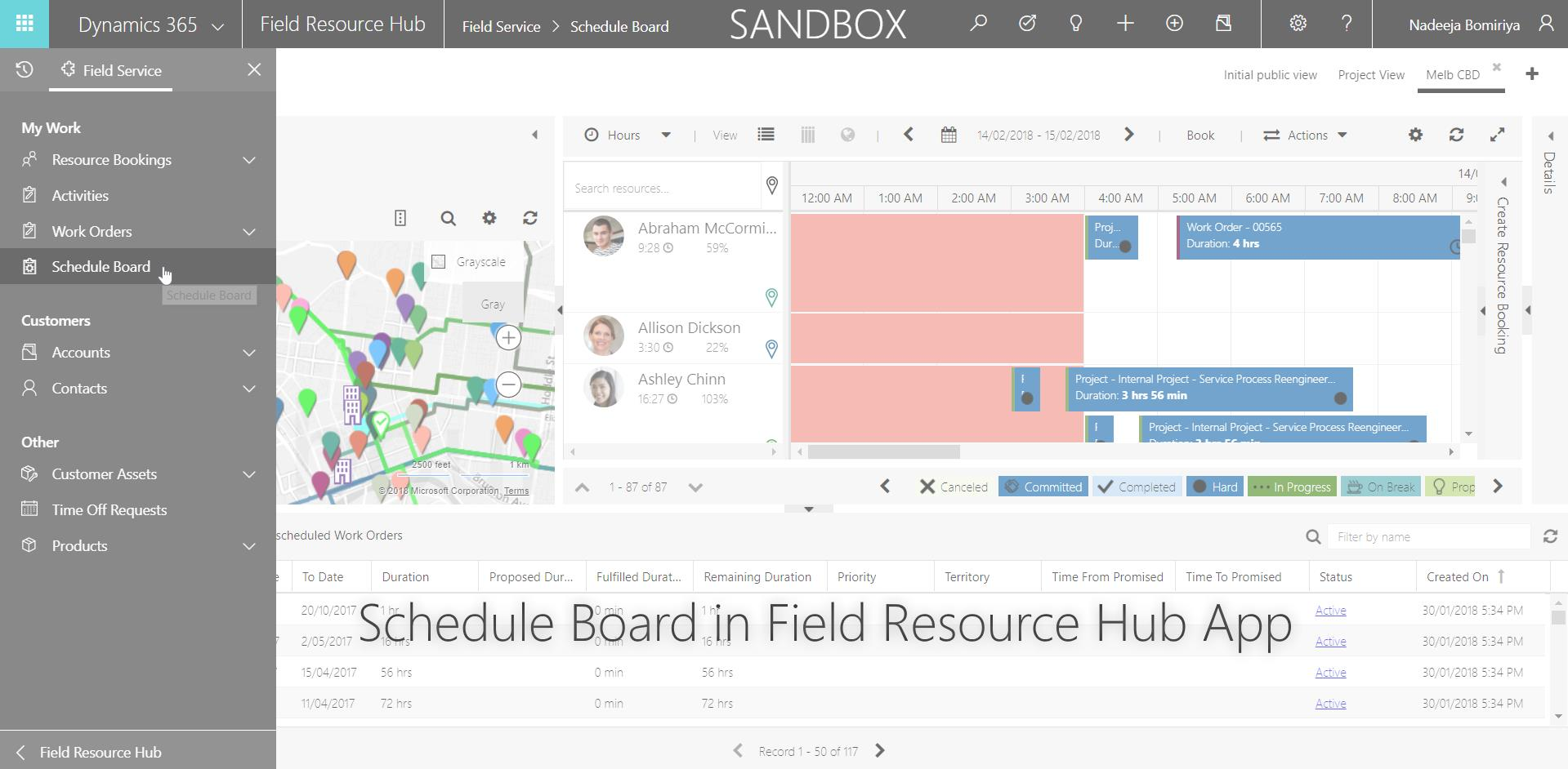 How To - Add Schedule Board to Unified Client Interface (UCI) based Field Resource Hub App