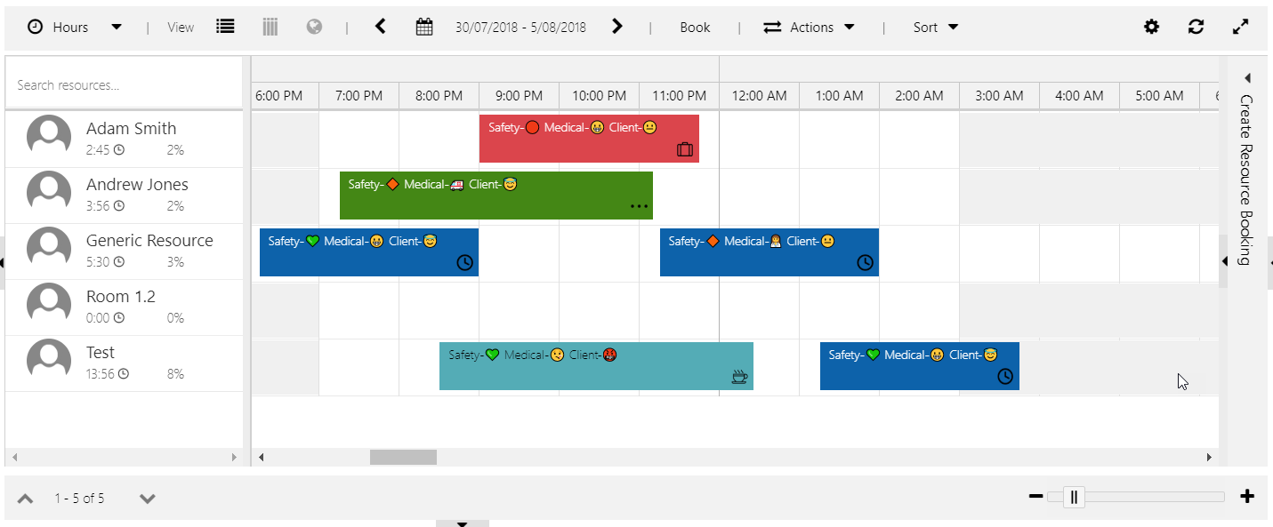 Schedule Board Bookings with Emojis